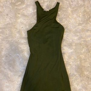 Rolla Coster Olive Green Tank Top Maxi Dress